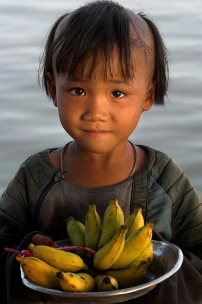 Kambodža, Malena prodavačica banana