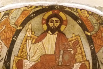 Koptska ikonografija Isus Hrist Manastir Sv. Antonija