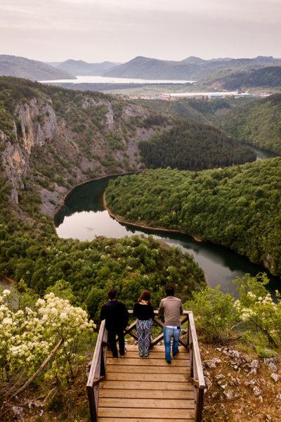 Panoramic view of the Radoinjsko lake meanders