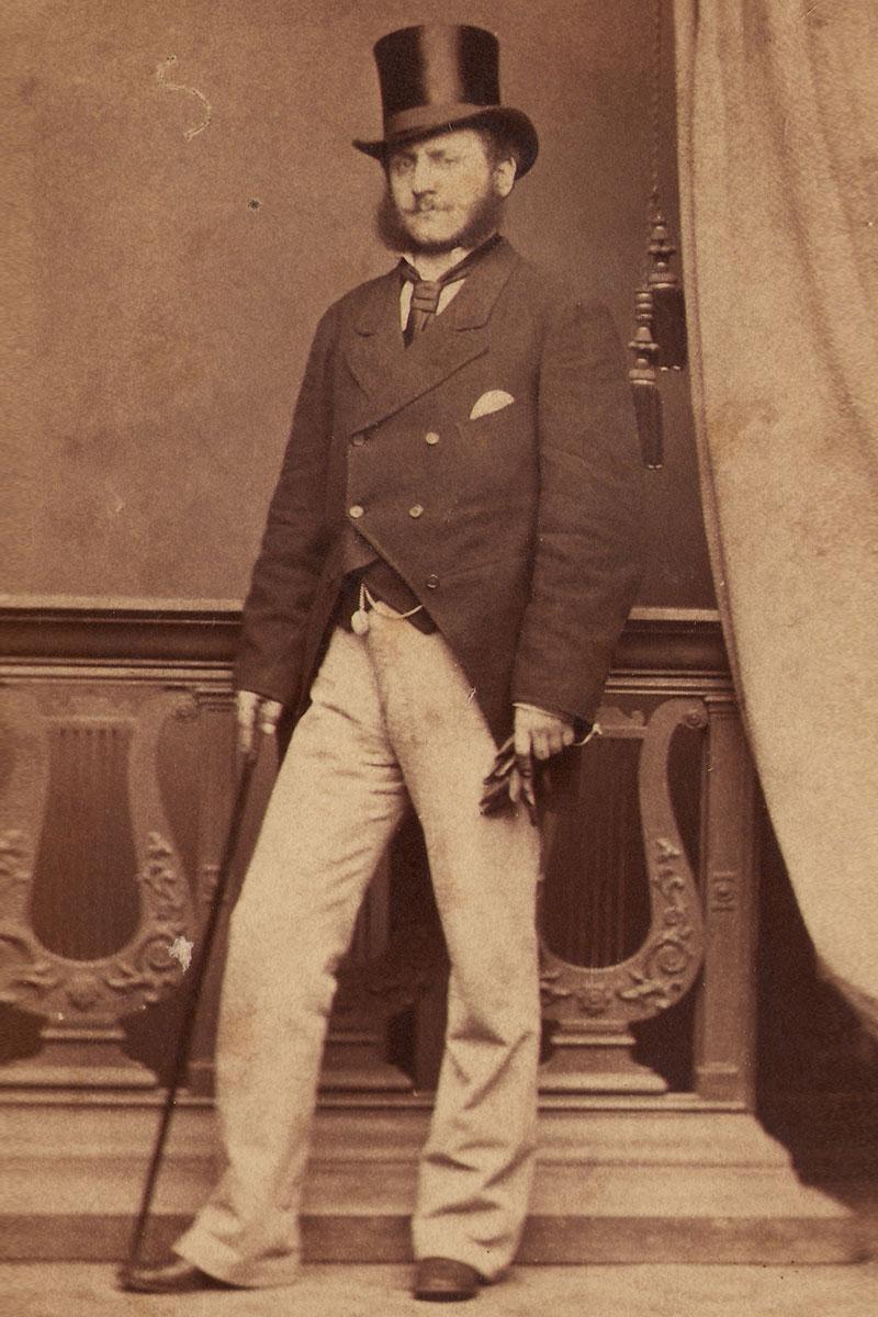 Portret arhitekte Konstantina Jovanovića, fotograf Anastas Stojanović, Beograd, oko 1875.