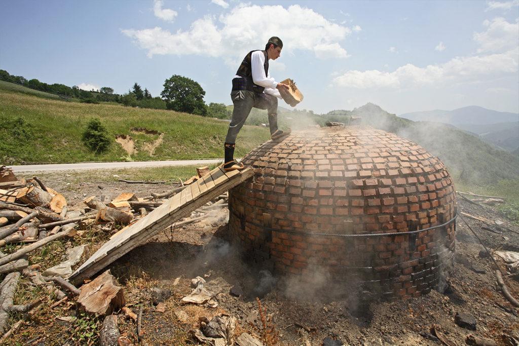 A charcoal kiln on Golija