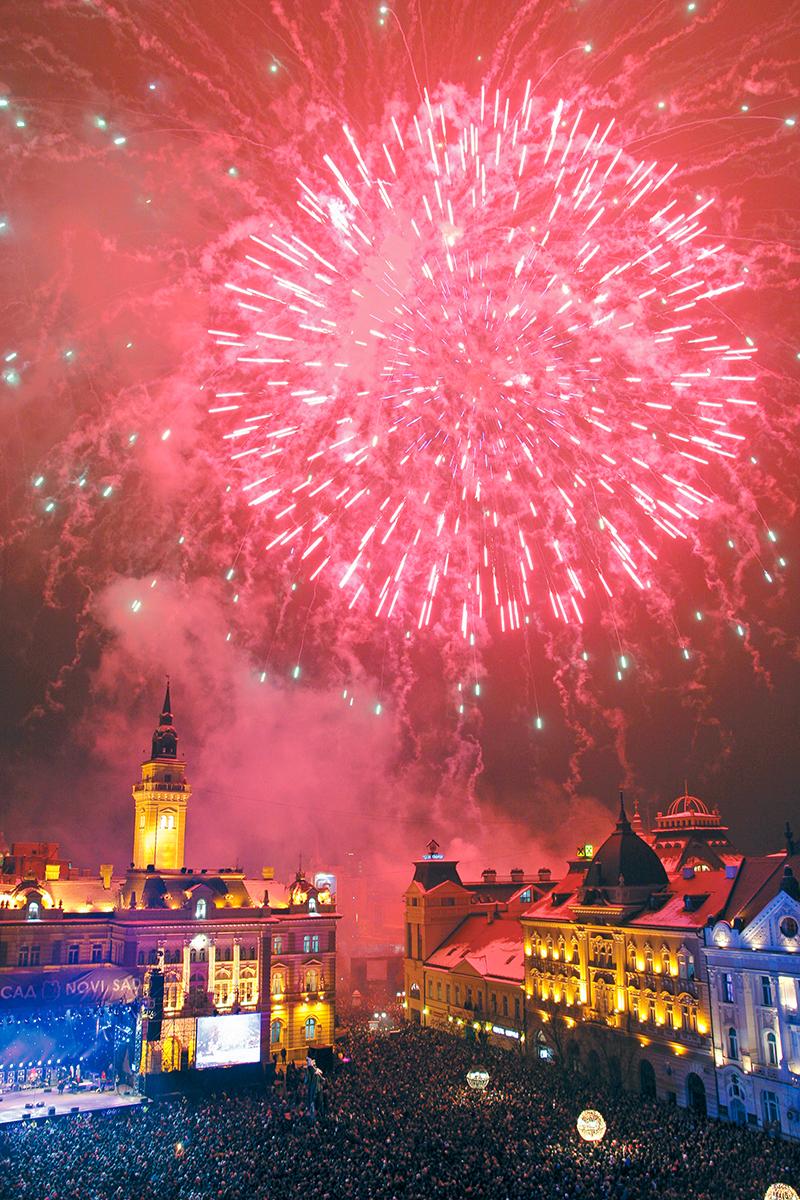 Novi Sad, novogodišnji vatromet
